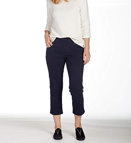 Jag Jeans Women's Peri Straight Pull on Crop, Nautical Navy, -
