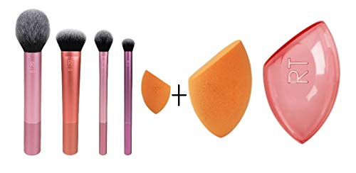 Real Techniques Everyday Essentials + Miracle Complexion Sponge With Case Value Set