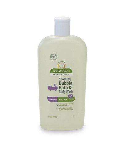 Baignoire Babyganics Temps Bubble Bath doux et nettoyant pour le corps, la lavande naturelle, 20 fl. oz (Pack de 2)