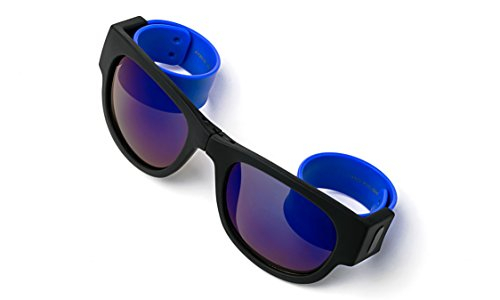 Folding Retro Design for Action Sports Easy to Store Sunglasses Flash/Mirrored - Flash Folding Wayfarer Lenses
