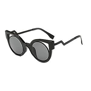 Sinkfish SG80032 Gift Sunglasses for Women,Anti-UV & Elegant Reflector - UV400 (Black)