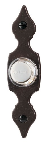 Decorative Doorbell Button (NuTone PB29LR Wired Lighted Door Chime Push Button, Brown Rust)