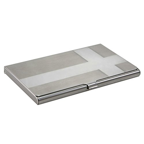 Price comparison product image Insten Metal Vertical Business Card Case Holder, Cross Silver