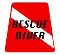 Rescue Diver Tetrahedron Decal Sticker for Scuba Rescue