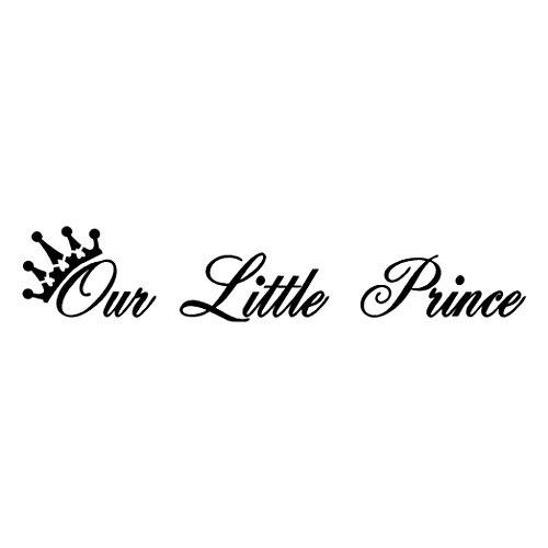 Gocheaper Decor Wall Stickers,Home Room Art Wall Decals Our Little Prince Removable Vinyl Mural (Sticker Sticker Family Rectangular)