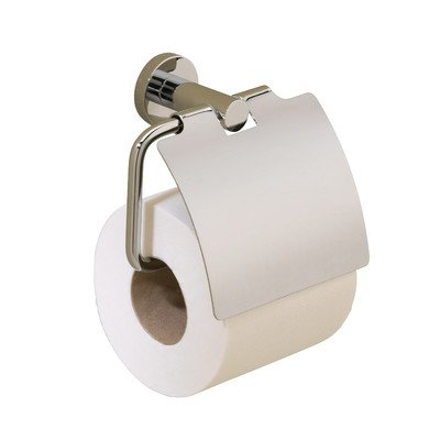 - Porto Wall Mounted Toilet Roll Holder Finish: Polished Nickel