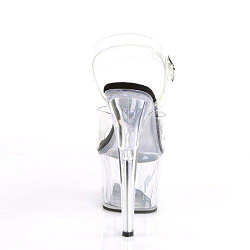 con toe diamante trasparente YMFIE EU 38 alto alto con 36 scarpe tacco sandali bei EU stile di tacco europeo cristalli estate toe In moda donna xqXUzfq