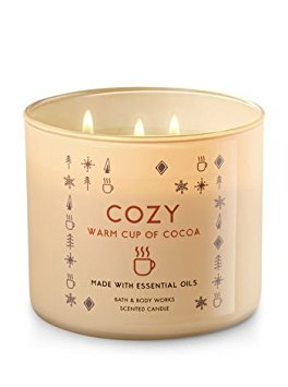 Bath & Body Works Candle 3 Wick 14.5 Ounce Cozy Warm Cup Of Cocoa