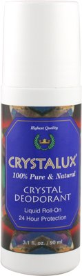Crystalux Crystal Deodorant Liquid Roll-On 24 Hour Protection 90ml/3.1oz by Body Crystal (Perfume Liquid Deodorant)