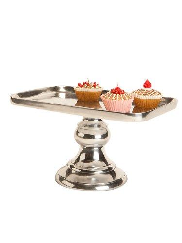 14\u0026quot; Metal Silver Rectangular Pedestal Wedding Cakeplate Cake Plate Cupcake Stand  sc 1 st  Amazon.com & Amazon.com | 14\