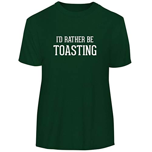 One Legging it Around I'd Rather Be Toasting - Men's Funny Soft Adult Tee T-Shirt, Forest, Medium