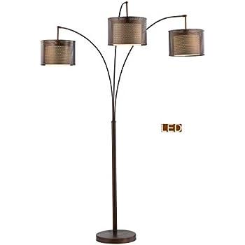 Trend Lighting Tfa9307 Lux Arc Floor Lamp Brushed Nickel
