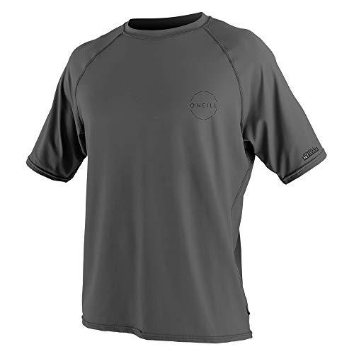 O'Neill Men's 24-7 Traveler UPF 50+ Short Sleeve Sun Shirt, Graphite, 3X-Large