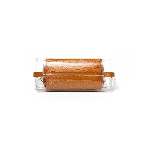 Totalizzatore Bag Donne Estate Impermeabile Da Cosmetici Piccola Godw Spiaggia Tracolla Pvc Clear Black Borsa Jelly Con UPxqFn