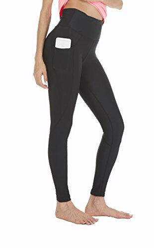 Queenie Ke Women High Waist Silver Nano Cover Sweaty Pants Side Phone Pockets Running Tights Size XL Color Silver Nano Cover