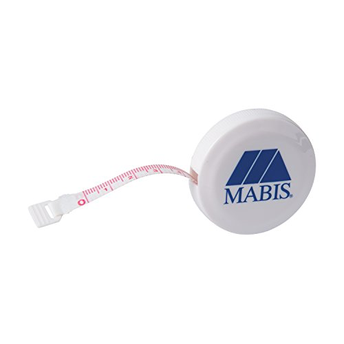 (MABIS Tape Measure, Retractable, Compact, White (Pack of 2))