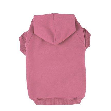 BINGPET Blank Basic Cotton/Polyester Pet Dog Sweatshirt Hoodie BA1002, Pink Extra large