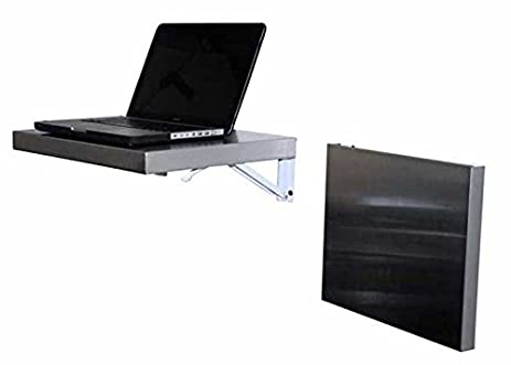 wall mounted laptop desk. workstation, stainless, wall-mount folding, 17\u0026quot; x 14\u0026quot;, laptop wall mounted desk r