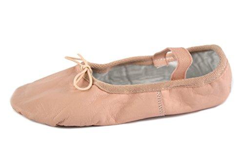 YUMP YUMPZ Balletschuh Moondancer Schwarz/Weiß/Rosé - Ballettschuhe aus natürlichem Soft-Leder und Rauledersohle - Turnschläppchen/Gymnastikschuhe