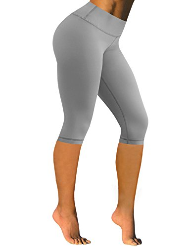 BUBBLELIME High Compression15''Inseam Yoga Capris Running Capris Tummy Control Hidden Pocket - High Five Pro Short