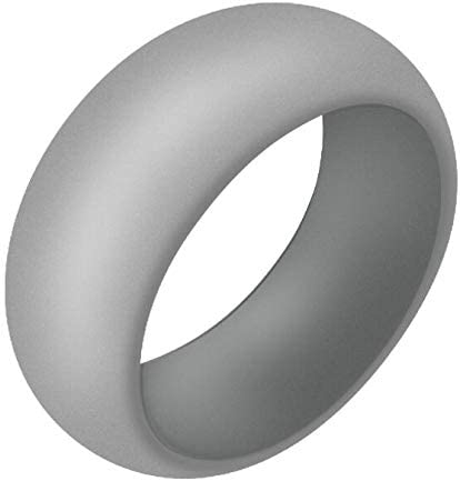 Please Check Size Chart Below Suitable for All Activities 9mm Width Pursuit Global Silicone Ring 7 Size from 6.5 to 13 4 Colors in 1 Pack White Light Gray Dark Gray Black