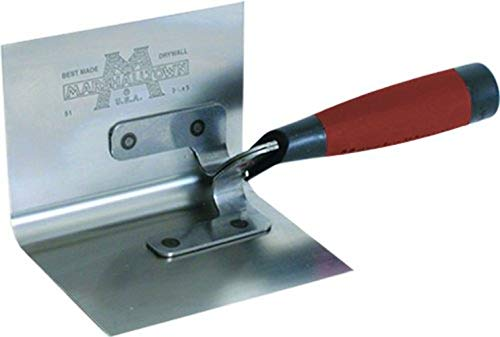 MARSHALLTOWN The Premier Line 51D 5-Inch by 3-1/2-Inch Inside Corner Trowel with DuraSoft Handle