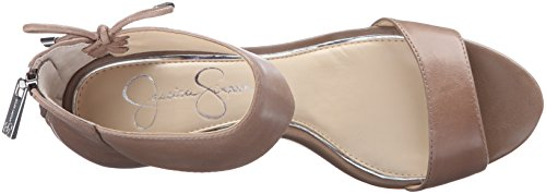 Simpson Totally Taupe breeley mujeres Jessica cuña de Leather de sandalias las HR74q