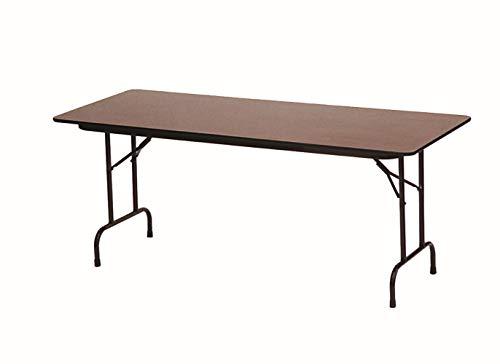 Correll CF3096M 01 Melamine Fixed Height Top Folding Table, Rectangular, 30