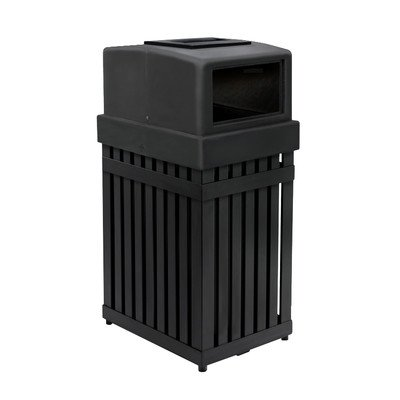 ArchTec Series 25-Gal Parkview 1 Single Trash Receptacle with ()
