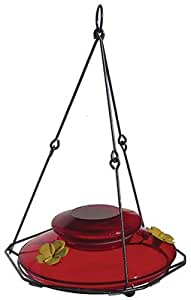 Natures Way Bird Products MHF1 Modern Red Hummingbird Feeder - Quantity 4