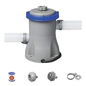 Bestway 58381 – Depuradora de Filtro de Cartucho Tipo I 1.249 litros/hora Conexión 32 mm