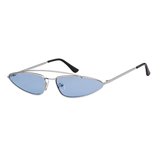 Small Retro Sunglasses Cat Plata Eye Mujeres para Diseñador ADEWU Vintage 2018 Hombres Metal 1 Marco Lente Azul dxq0EwE1