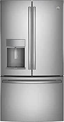 """GE Profile PFE28KSKSS 36"""" Freestanding French-door Refrigerator with 27.8 Cu. Ft. Capacity, in Stainless steel"""