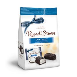 Choc Coconut (Russell Stover Dark Choc Coconut Mini Gusset Bag, 6 Ounce)
