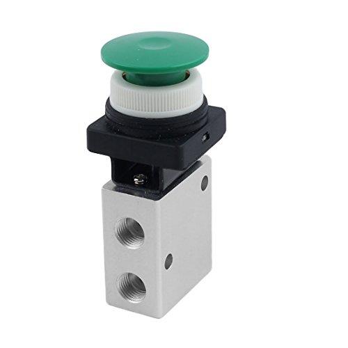 uxcell® 13mm Thread 2 Position 3 Way Mushroom Button Air Mechanical Valve