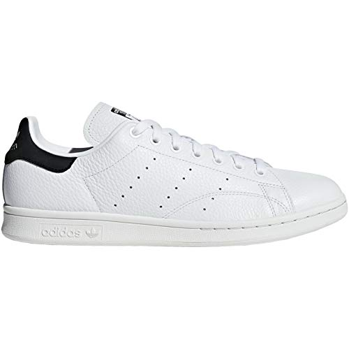 adidas Mens Stan Smith Leather White Core Black Trainers 10 US - Smiths Shoes Mens
