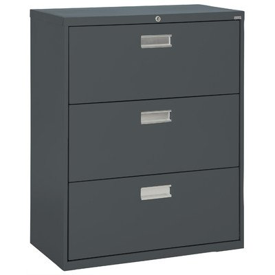 Sandusky Lee LF6A363-02 600 Series 3 Drawer Lateral File Cabinet, 19.25