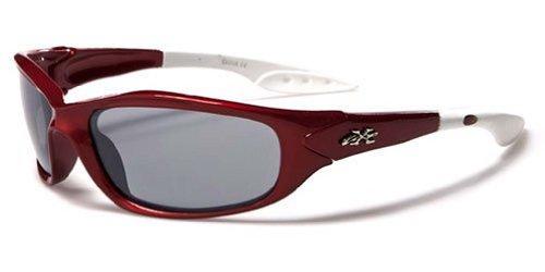 Kids Sunglasses UV400 Rated Ages 3-10 (Frame Crimson Red Lens)