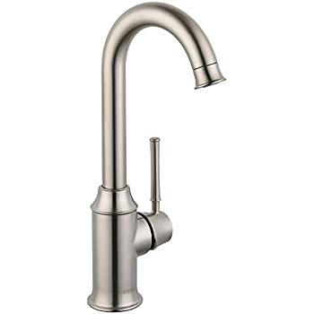 Hansgrohe 14801801 Allegro E Bar Faucet, Steel Optik - Bar Sink ...