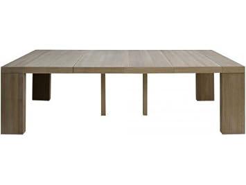 Table Console Extensible En Bois Massif Chêne Naturel Rose 4