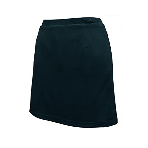 - Monterey Club Ladies Dry Swing Lace Emboss Solid Pull-on Knit Skort #2919 (Black, Large)