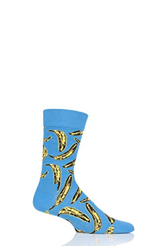 Warhol Andy Collection (Happy Socks Andy Warhol Socks (Andy Warhol Banana Sock Blue, 4,5-7,5))