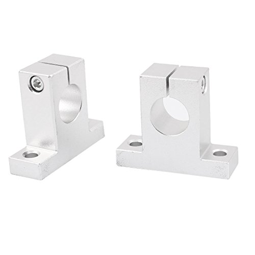 uxcell SK20 20mm Hole Dia Linear Rail Shaft Clamp Guide Support 2pcs