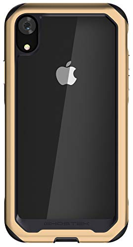 - Ghostek Atomic Slim Shock Absorbing Protective Case Compatible with iPhone XR - Gold