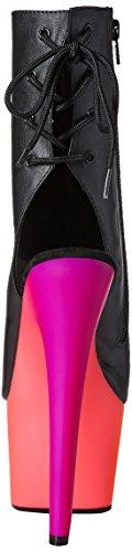 Pleaser blk Faux Multicolore neon 1018uv7 Rainbow Multi Sandali Leather Donna RwR1rB