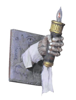 UHC Haunted House Egyptian Chamber Torch Horror Theme Party Halloween Decoration