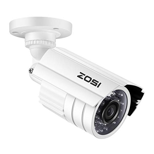 ZOSI 1080P HD 1920TVL Hybrid 4-in-1 TVI/CVI/AHD/960H CVBS CCTV Camera 24PCS IR-LEDs Security Day/Night Weatherproof Bullet Surveillance Cameras For HD-TVI, AHD, CVI, and CVBS/960H analog DVR (White)