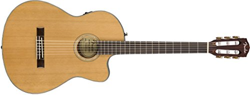 Fender CN-140SCE Nylon String Acoustic-Electric Guitar with Case - Concert Body Style - Natural (Electric Nylon Body)
