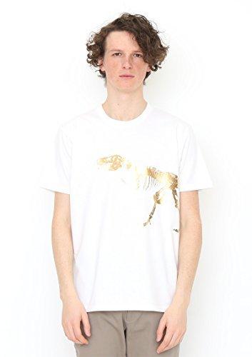 家事をする認証安全な(グラニフ) graniph Tシャツ ティラノサウルス (ホワイト) メンズ レディース