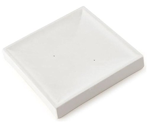 Small Square Nesting Plate - Bullseye Glass Fusible Glass Slumping Mold